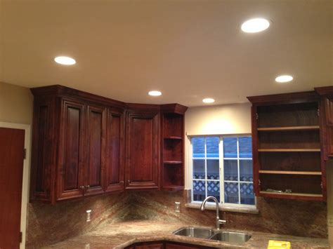 pictures of recessed lighting in kitchen 500 recessed led lights san jose electricians servicing
