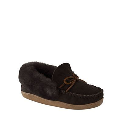 lands end womens slippers lands end brown s shearling moccasin slippers