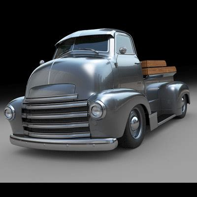 customized chevy trucks 3d model of customized chevy truck c