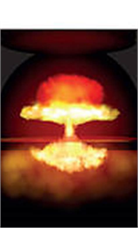 Armaggeddon Nuke 7 Yellow clipart of explosion of great nuclear bomb on k15347520