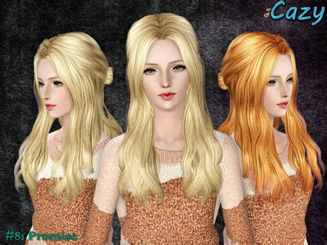 sims 3 custom content females hair bow cazy s promise hairstyle female