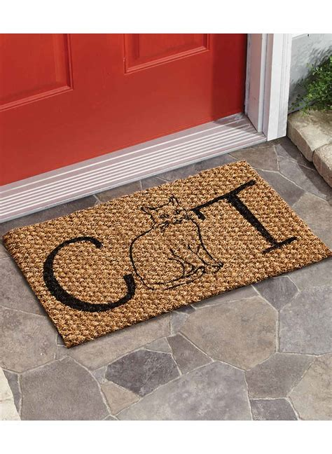 Cat Door Mat by Cat Door Mat Carolwrightgifts