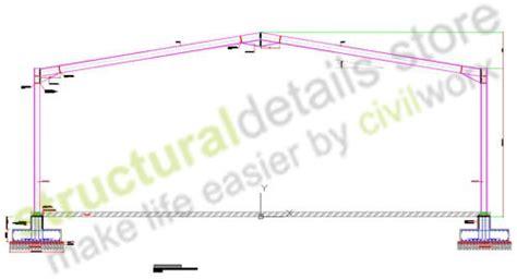 design portal frame exle complete typical hangar design details includes details