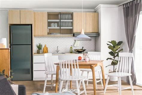 desain dapur  ruang makan jadi satu  tidak