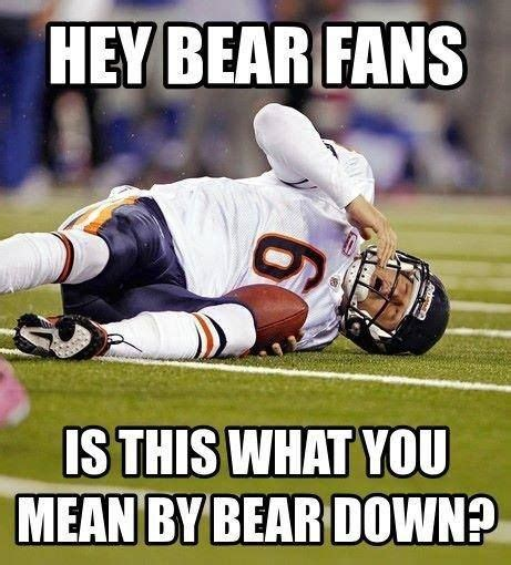 Funny Chicago Bears Memes - jay cutler go pack go pinterest football funny and