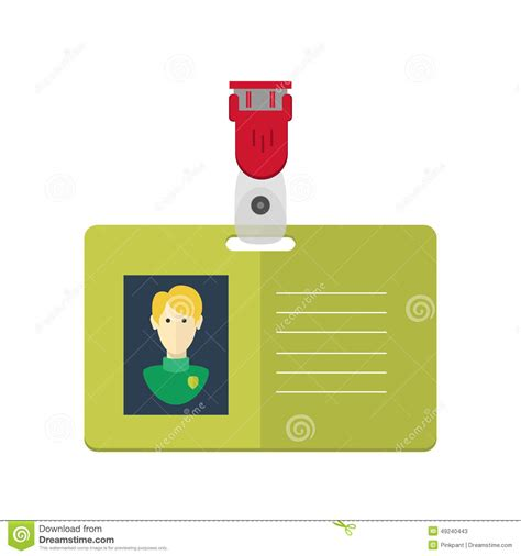 design id card vector dentity card of the person badge identification card