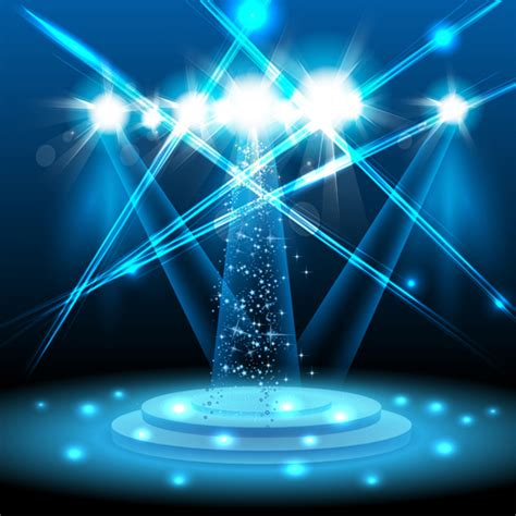 design effect of stage with spotlight effect design vector material 04