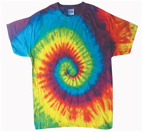 reactive rainbow sleeve tie dye t shirt