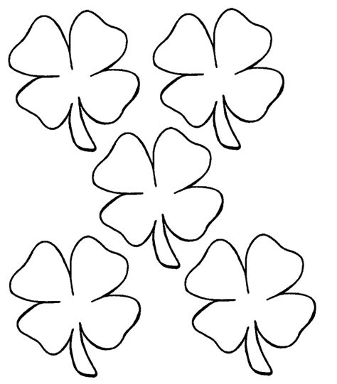 Shamrock Color Pages Coloring Home Shamrock Coloring Page