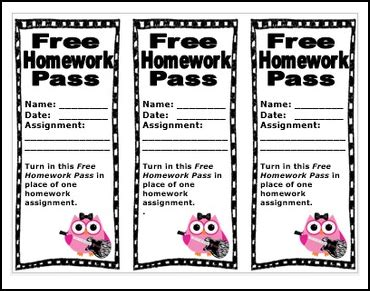 free homework pass template the best of entrepreneurs iv free misc lesson