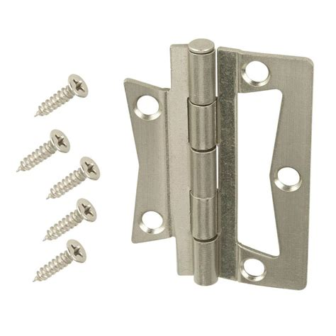 swing clear hinges home depot everbilt 2 1 2 in satin nickel non mortise hinges 2 pack