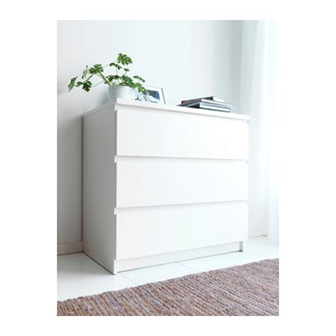 malm 3 drawer chest white furniture source philippines