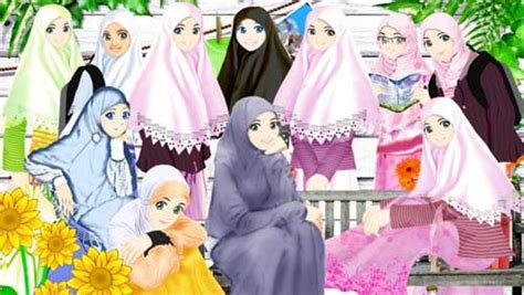 wallpaper animasi jilbab gambar kartun islami terbaru dan terlucu gambar foto