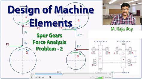 design of machine elements youtube design of machine elements force analysis problem 2