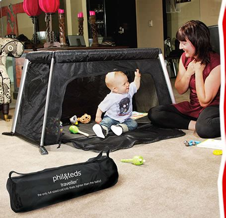 traveller portable travel cot crib phil teds