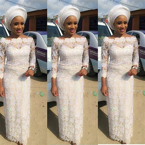 lace and wrapper style in nigeria latest aso ebi styles 2016 white lace styles for wedding