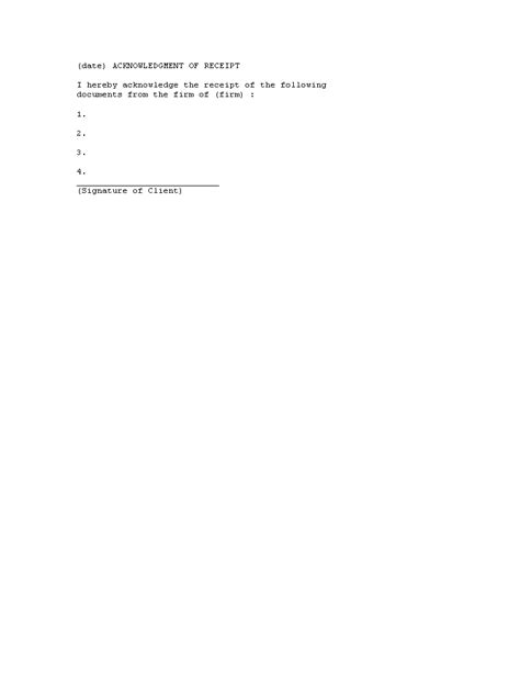 acknowledgement receipt of documents template acknowledgement of receipt documents templates at