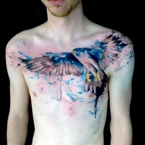 watercolor tattoo eagle beautiful watercolor style painted big eagle on