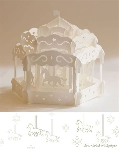 carousel card template carousel pop up card origamic architecture pop up cards
