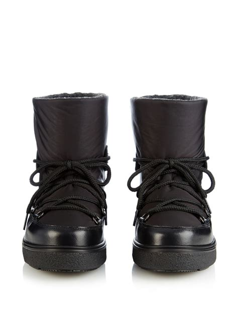 apres ski boots s moncler apr 233 s ski boots in black lyst