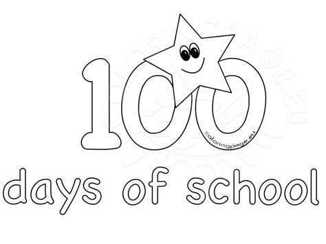 day of school template 100th day school coloring sheets for coloring page