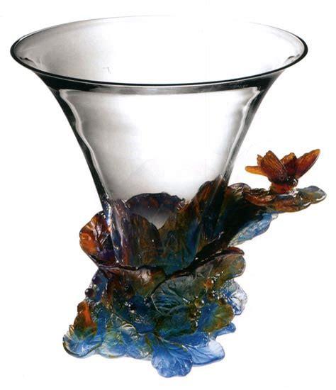 daum butterfly vase waterford waterford