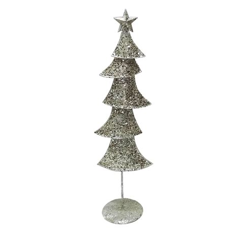 decorative ornaments for the home uk chagne silver glittered metal contemporary medium
