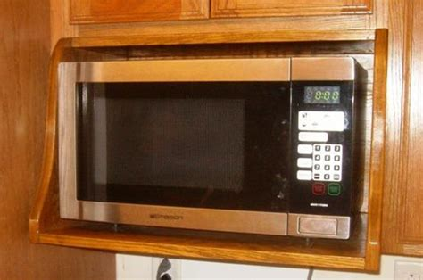 Microwave On A Shelf by Free Microwave Shelf Plans How To Build A Microwave Shelf