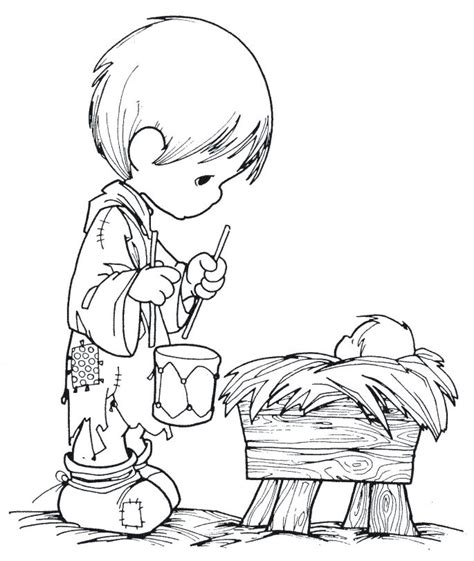 boy christmas coloring page free little baby boy coloring pages