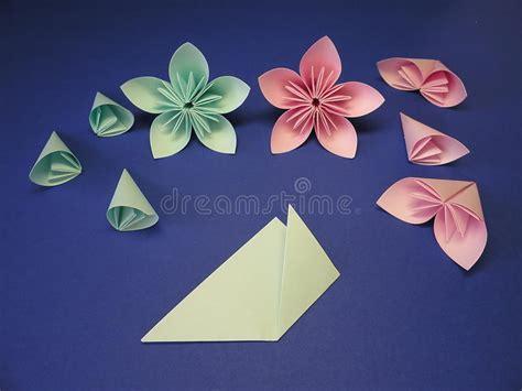 Flores De Origami - flores de origami foto de stock royalty free imagem
