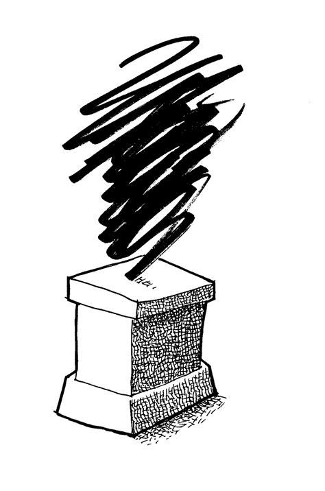 pedestal drawing don moyer sketchbook pedestal thing