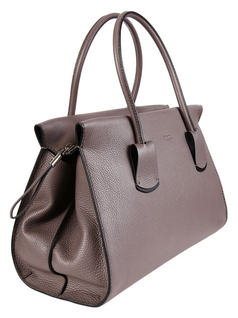 tod s tods small bowler bag in micrograin textured leather