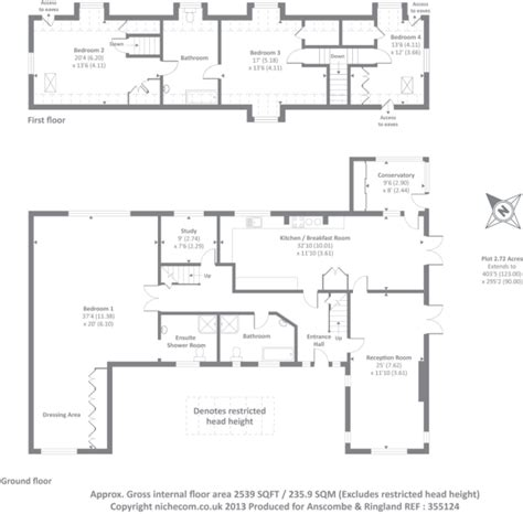 chalet bungalow floor plans uk 4 bedroom detached bungalow for sale in cottage farm