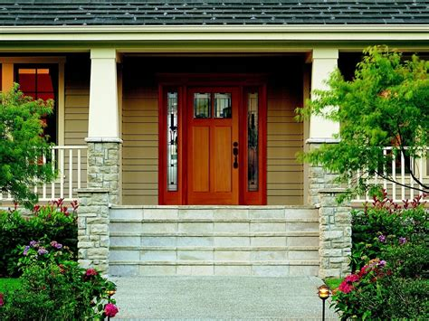 Adding An Exterior Door Adding A Porch To A Ranch Style House With Porches House Style Design