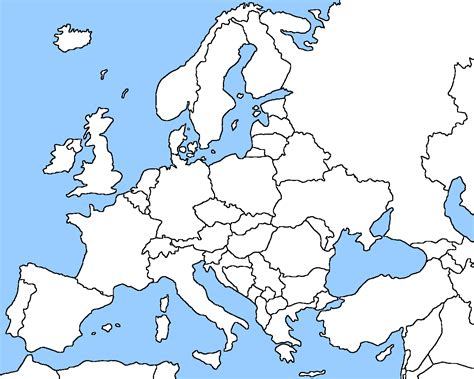 blank european maps europe map other maps