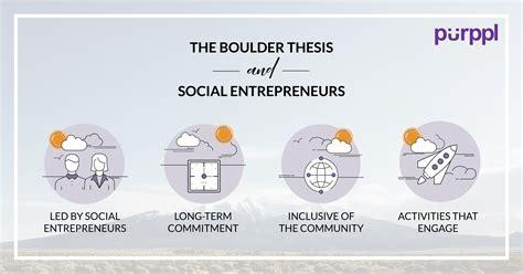 social entrepreneurship thesis the boulder thesis a theory for social entrepreneurs