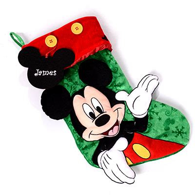 mickey mouse christmas stocking create a gift disney