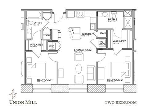 Our Two Bedroom Apartments Feature Walk Closets Kitchen