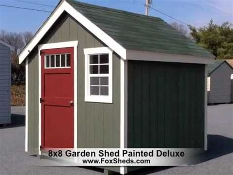 garden shed painted deluxe series youtube