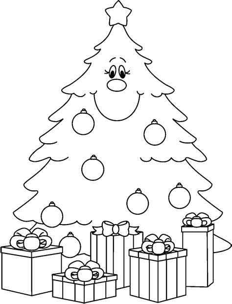 Christmas tree clip art black and white christmas tree clip art black
