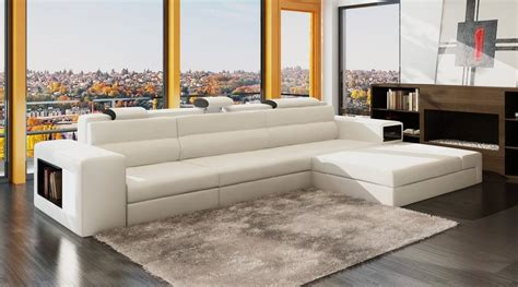 Apartment Sized Sectional Sofa by High End Italian Leather Living Room Furniture Baltimore