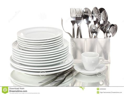and cutlery clean plates and cutlery stock photos image 22935953