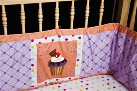 Cupcake Crib Bedding Set 10pc Cupcake Nursery Discount Crib Bedding Set Unique Lavendar Coral Pink Ebay