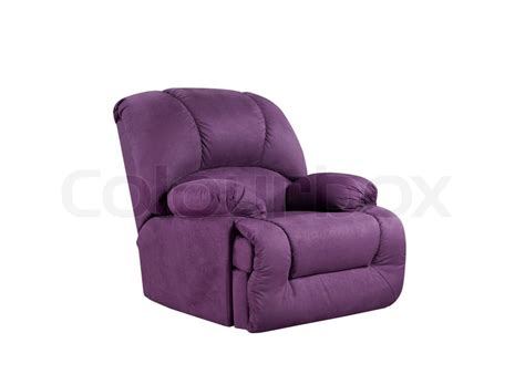 Purple Leather Armchair Bright Purple Leather Armchair Isolated On White Stock
