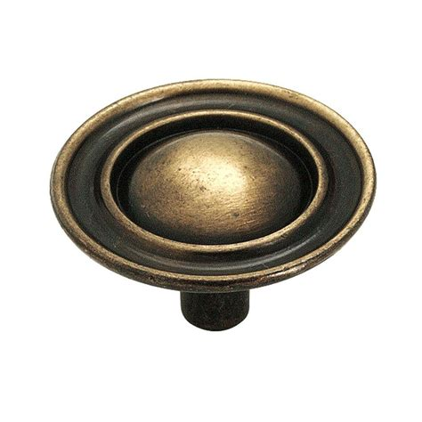 amerock kitchen cabinet pulls amerock 1 1 2 in antique brass cabinet knob 159abs the