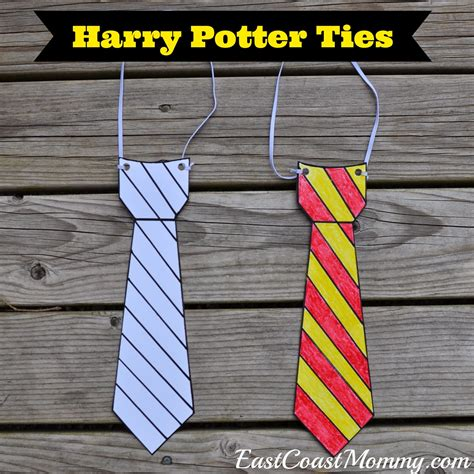harry potter tie template east coast harry potter glasses and ties with free