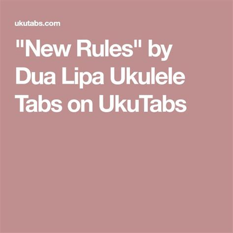 dua lipa new rules chords 3893 best all things uke images on pinterest ukulele