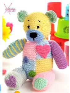 Patchwork Toys Free Patterns - patch patchwork teddy knitting pattern ebay