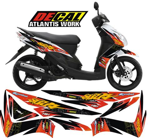Modifikasi Mio Soul by Modifikasi Striping Mio Soul Modifikasi Motor Kawasaki