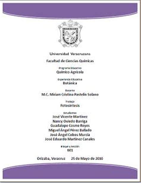 formato de perfil grupal de primaria gratis ensayos hojas de presentaci 243 n facultad de ciencias qu 237 micas